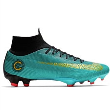 Nike Superfly VI Pro CR7 FG Soccer Cleats (Clear Jade/Metallic Vivid Gold/Black)