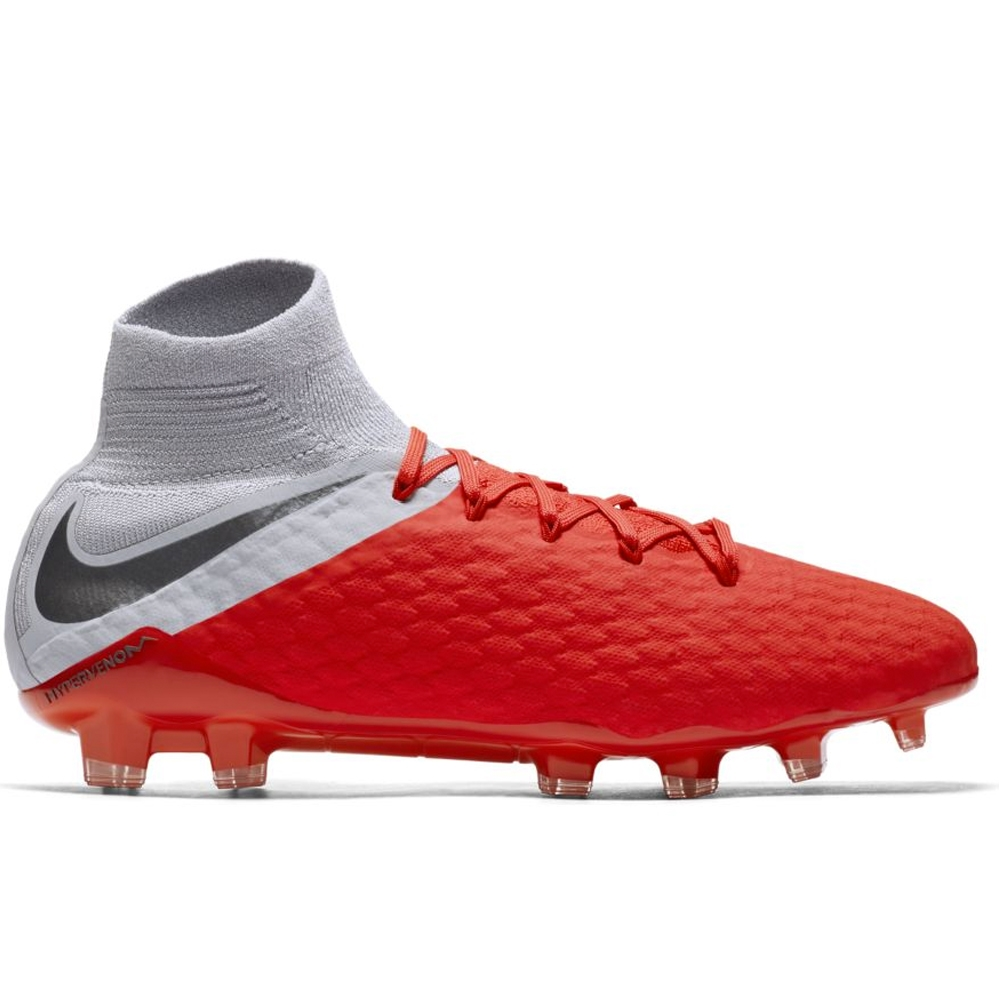 6a91902795d Nike Hypervenom III Pro DF FG Soccer Cleats (Light Crimson Metallic ...