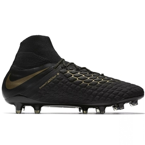 Nike Hypervenom Phantom III Elite DF FG Soccer Cleats (Black/Metallic Vivid Gold)