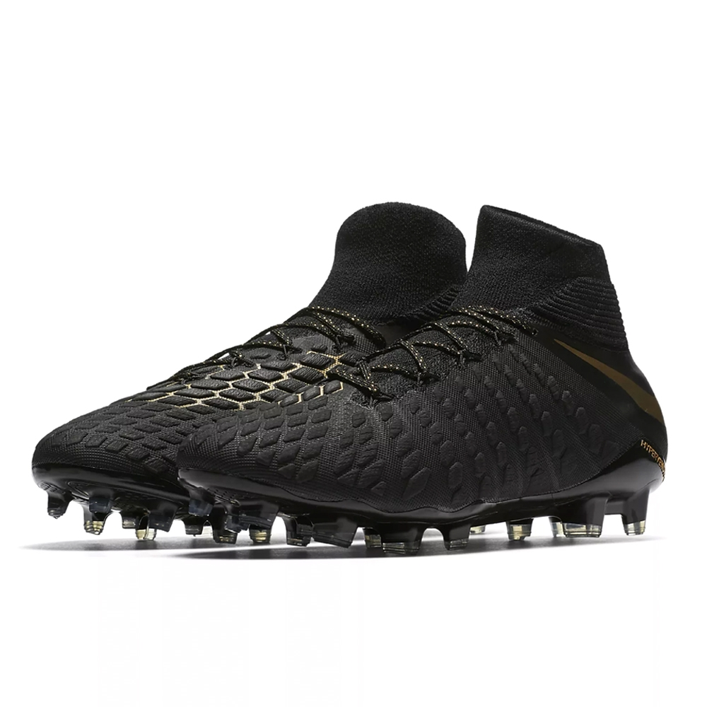 on sale d925a a6c1c Nike Hypervenom Phantom III Elite DF FG Soccer Cleats (Black Metallic Vivid  Gold)