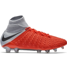 Nike Hypervenom III Elite DF FG Soccer Cleats (Light Crimson/Metallic Dark Grey/Wolf Grey)