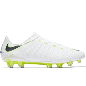 Nike Phantom III Elite FG Soccer Cleats (White/Metallic Cool Grey/Volt)