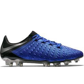 Nike Hypervenom 3 Elite FG Soccer Cleats (Racer Blue/Metallic Silver/Black/Volt)