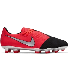 Nike Phantom Venom Academy FG Soccer Cleats (Laser Crimson/Metallic Silver/Black)