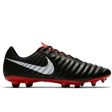 Nike Tiempo Legend VII Academy MG Soccer Cleats (Black/Pure Platinum/Light Crimson)