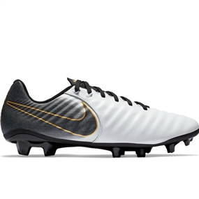 Nike Tiempo Legend 7 Academy MG Soccer Cleats (White/Black)