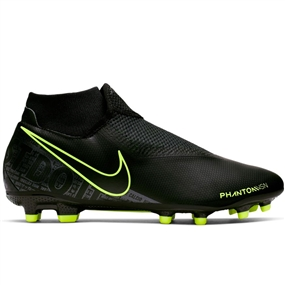 Nike Phantom Vision Academy DF MG Soccer Cleats (Black/Volt)