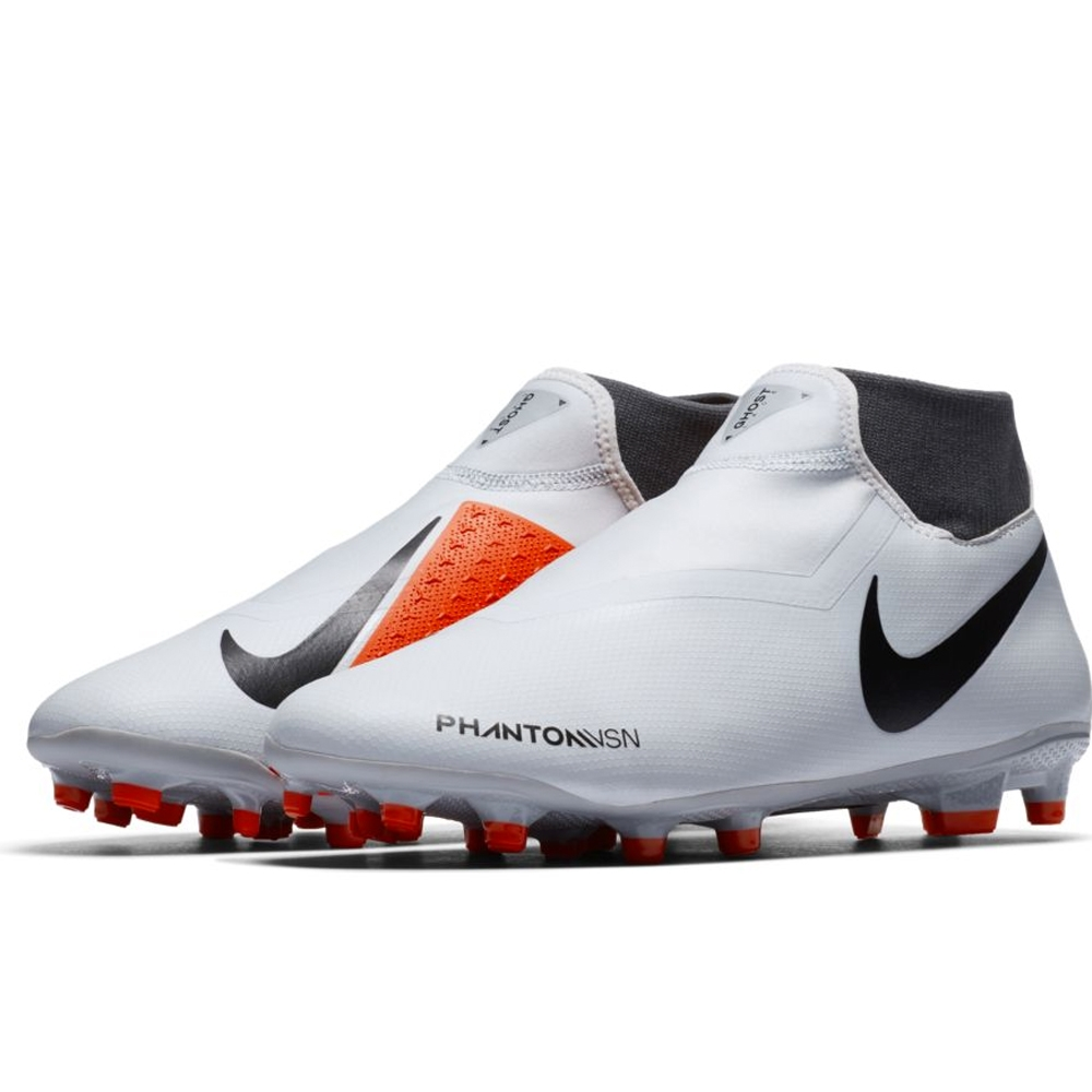 addda5d7f Nike Phantom Vision Academy DF FG/MG Soccer Cleats (Pure Platinum/Black/Light  Crimson/Dark ...
