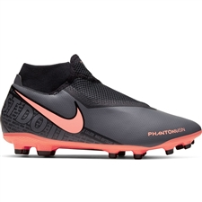 Nike Phantom Vision Academy DF MG Soccer Cleats (Dark Grey/Bright Mango/Black)