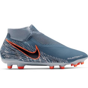 Nike Phantom Vision Academy DF MG Soccer Cleats (Armory Blue/Black/Hyper Crimson)
