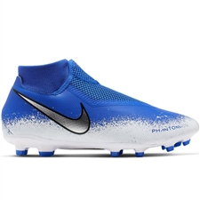 Nike Phantom Vision Academy DF MG Soccer Cleats (Racer Blue/Chrome/White)