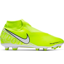 Nike Phantom Vision Academy DF MG Soccer Cleats (Volt/White)