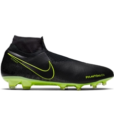 Nike Phantom Vision Elite DF FG Soccer Cleats (Black/Volt)