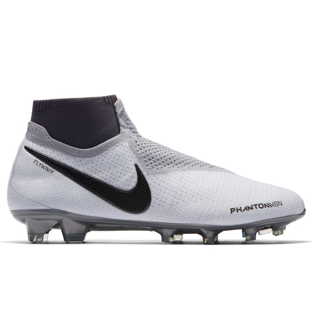 16cd29c0631 Nike Phantom Vision Elite DF FG Soccer Cleats (Pure Platinum Black ...