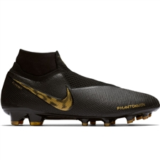 Nike Phantom Vision Elite DF FG Soccer Cleats (Black/Metallic Vivid Gold)