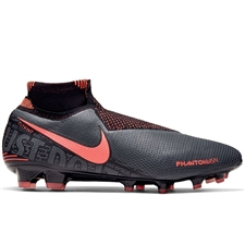 Nike Phantom Vision Elite DF FG Soccer Cleats (Dark Grey/Bright Mango/Black)