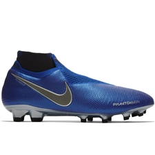 Nike Phantom Vision Elite DF FG Soccer Cleats (Racer Blue/Metallic Silver/Black/Volt)