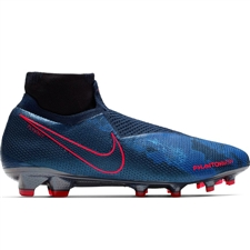 Nike Phantom Vision Elite DF FG Soccer Cleats (Obsidian/Black/Blue Void)