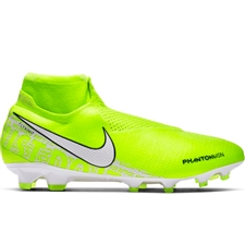 Nike Phantom Vision Elite DF FG Soccer Cleats (Volt/White/Barely Volt)