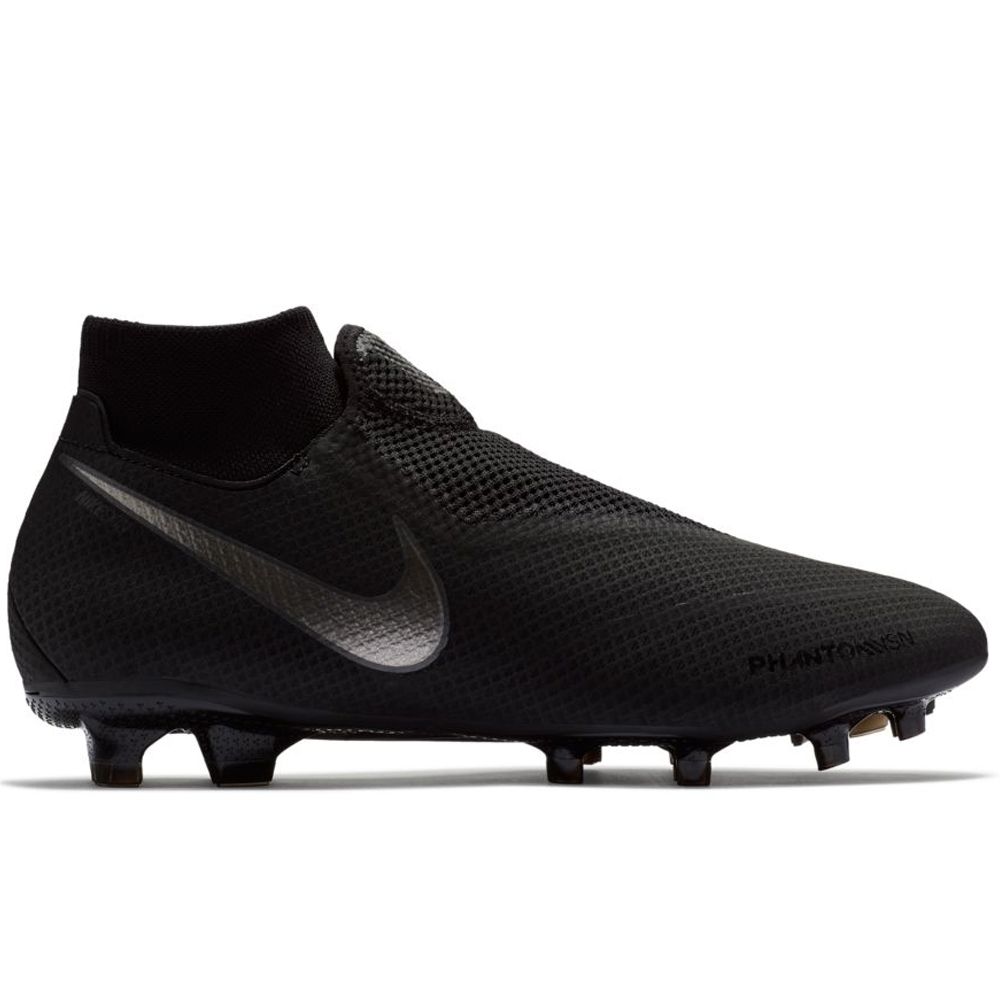 Nike Phantom Vision Pro DF FG Soccer Cleats (Black)  d5c883e78084a