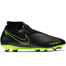 Nike Phantom Vision Pro DF FG Soccer Cleats (Black/Volt)