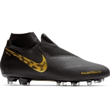 Nike Phantom Vision Pro DF FG Soccer Cleats (Black/Metallic Vivid Gold)