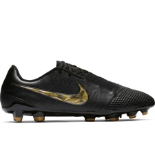 Nike Phantom Venom Elite FG Soccer Cleats (Black/Metallic Vivid Gold)