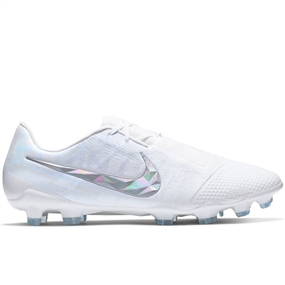 Nike Phantom Venom Elite FG Soccer Cleats (White/Metallic Platinum)