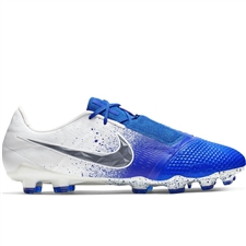 Nike Phantom Venom Elite FG Soccer Cleats (White/Black/Racer Blue)