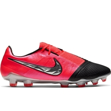 Nike Phantom Venom Elite FG Soccer Cleats (Laser Crimson/Metallic Silver/Black)
