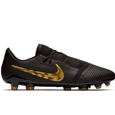 Nike Phantom Venom Pro FG Soccer Cleats (Black/Metallic Vivid Gold)