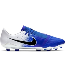 Nike Phantom Venom Pro FG Soccer Cleats (White/Black/Racer Blue)