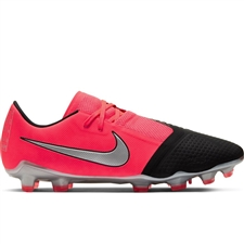 Nike Phantom Venom Pro FG Soccer Cleats (Laser Crimson/Metallic Silver/Black)