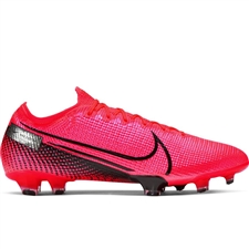 Nike Mercurial Vapor 13 Elite FG Soccer Cleats (Laser Crimson/Black)