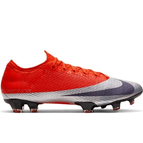 Nike Mercurial Vapor 13 Elite FG Soccer Cleats (Max Orange/Abyss/Metallic Silver/Black)