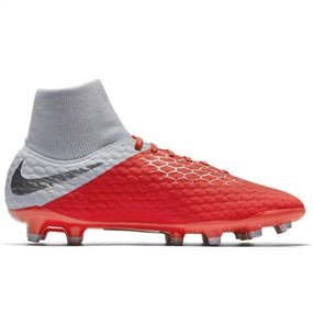 Nike Hypervenom III Academy DF FG Soccer Cleats (Light Crimson/Metallic Dark Grey/Wolf Grey)
