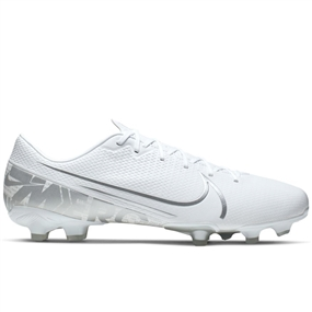 Nike Vapor 13 Academy MG Soccer Cleats (White/Chrome/Metallic Silver)