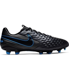 Nike Legend 8 Academy MG Soccer Cleats (Black/Blue Hero)