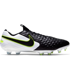 Nike Legend 8 Elite FG Soccer Cleats (Black/White)