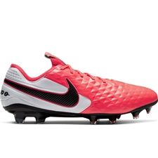 Nike Tiempo Legend 8 Elite FG Soccer Cleats (Laser Crimson/Black/White)