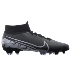 Nike Superfly 7 Pro FG Soccer Cleats (Black/Metallic Cool Grey/Cool Grey)