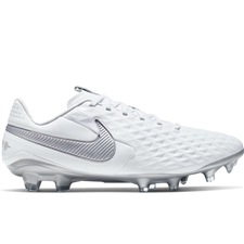 Nike Legend 8 Pro FG Soccer Cleats (White/Chrome/Metallic Silver)