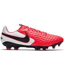 Nike Tiempo Legend 8 Pro FG Soccer Cleats (Laser Crimson/Black/White)