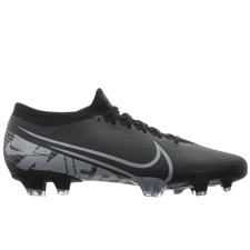 Nike Vapor 13 Pro FG Soccer Cleats (Black/Metallic Cool Grey/Cool Grey)
