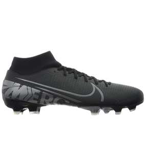Nike Superfly 7 Academy MG Soccer Cleats (Black/Metallic Cool Grey/Cool Grey)