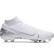 Nike Superfly 7 Academy MG Soccer Cleats (White/Chrome/Metallic Silver)
