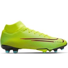Nike Mercurial Superfly 7 Academy MDS MG Soccer Cleats (Lemon Venom/Black/Aurora Green)