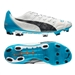 Puma evoPOWER 1.2 FG Soccer Cleats (White/Black/Hawaiian Ocean)