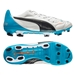 Puma evoPOWER 1.2 Leather FG Soccer Cleats (White/Black/Hawaiian Ocean)