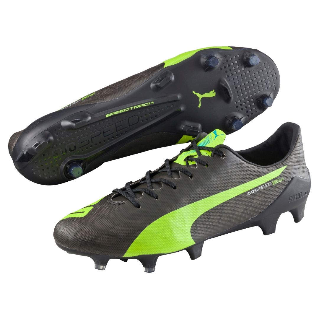 black and green puma football boots